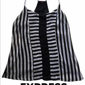 New York & Company black white striped blouse